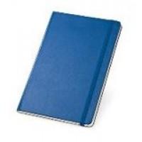 Bloco de anotações A5. Capa dura. Com bolso interior e 80 folhas não pautadas cor marfim.